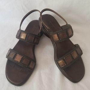 Munro American Bronze Comfort Sandal